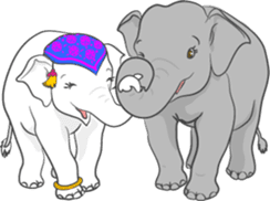 Lucky happy elephants sticker #9043657