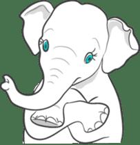Lucky happy elephants sticker #9043659