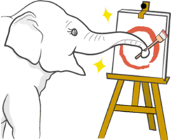 Lucky happy elephants sticker #9043662