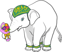 Lucky happy elephants sticker #9043663