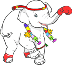 Lucky happy elephants sticker #9043664