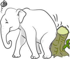 Lucky happy elephants sticker #9043665