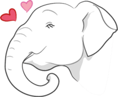 Lucky happy elephants sticker #9043667
