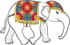 Lucky happy elephants sticker #9043668