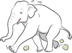 Lucky happy elephants sticker #9043669