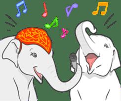 Lucky happy elephants sticker #9043670