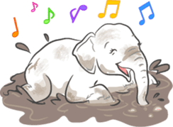 Lucky happy elephants sticker #9043672