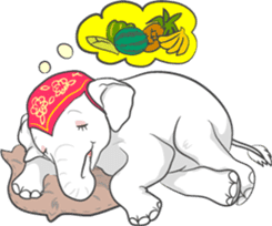 Lucky happy elephants sticker #9043673