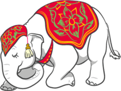 Lucky happy elephants sticker #9043675