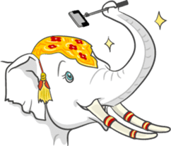 Lucky happy elephants sticker #9043676