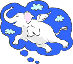 Lucky happy elephants sticker #9043679