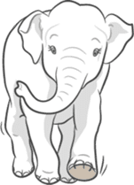 Lucky happy elephants sticker #9043680