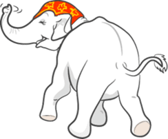 Lucky happy elephants sticker #9043681
