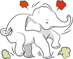 Lucky happy elephants sticker #9043682