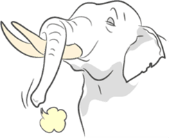 Lucky happy elephants sticker #9043683