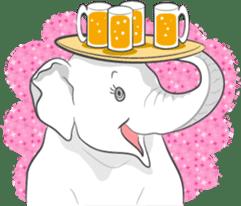Lucky happy elephants sticker #9043684