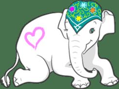 Lucky happy elephants sticker #9043685