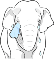 Lucky happy elephants sticker #9043688