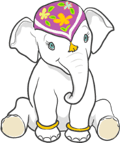 Lucky happy elephants sticker #9043692