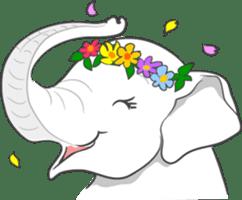 Lucky happy elephants sticker #9043695