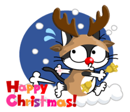 Communication of the cat / Christmas sticker #9045938