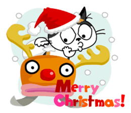 Communication of the cat / Christmas sticker #9045945