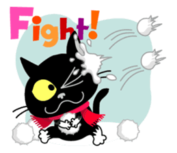 Communication of the cat / Christmas sticker #9045967