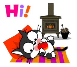 Communication of the cat / Christmas sticker #9045970