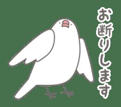 Yuru kawaii Java sparrow sticker #9046417