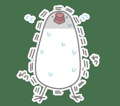 Yuru kawaii Java sparrow sticker #9046427