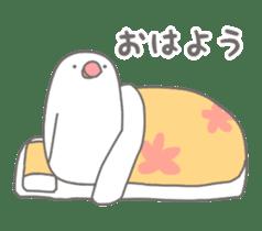 Yuru kawaii Java sparrow sticker #9046430