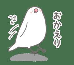 Yuru kawaii Java sparrow sticker #9046433