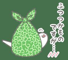 Yuru kawaii Java sparrow sticker #9046442