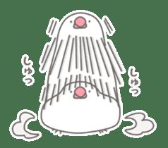 Yuru kawaii Java sparrow sticker #9046452