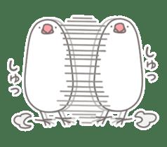 Yuru kawaii Java sparrow sticker #9046453