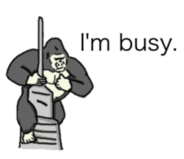 The time of the gorilla(English) sticker #9048562