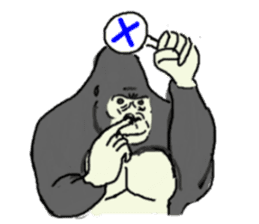 The time of the gorilla(English) sticker #9048578
