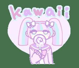 KawaiiHarajukuGirl(english) sticker #9060456