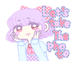 KawaiiHarajukuGirl(english) sticker #9060476