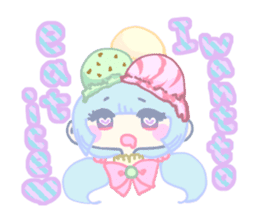 KawaiiHarajukuGirl(english) sticker #9060481