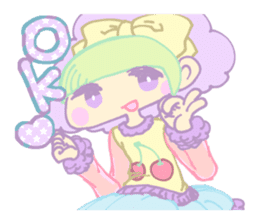 KawaiiHarajukuGirl(english) sticker #9060487