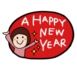 Stickers at Christmas and New Year's sticker #9063088