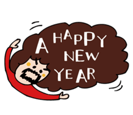 Stickers at Christmas and New Year's sticker #9063089