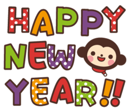 Monkey New Year Sticker 2016 sticker #9064097