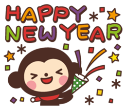 Monkey New Year Sticker 2016 sticker #9064127