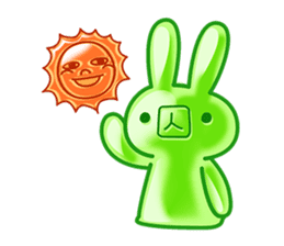 Gummy candy rabbit 1 sticker #9068256