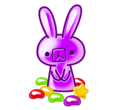 Gummy candy rabbit 1 sticker #9068260