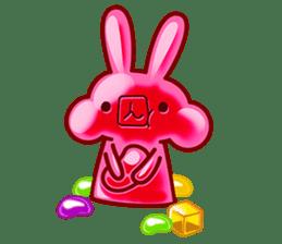 Gummy candy rabbit 1 sticker #9068270