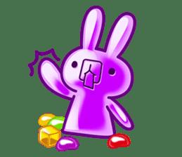 Gummy candy rabbit 1 sticker #9068281