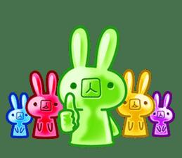 Gummy candy rabbit 1 sticker #9068288